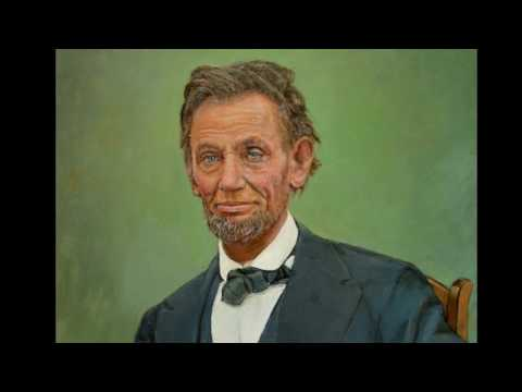 Painting of Linoln.  ( Oil Portrait of President Abraham Lincoln)