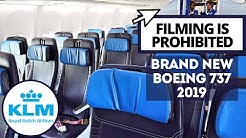 Recording Video Is Not Allowed! KLM Brand New Boeing 737 | New Istanbul Airport