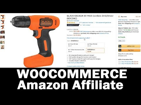 How to Add Amazon Affiliate Products to WOOCOMMERCE Shop Tutorial thumbnail
