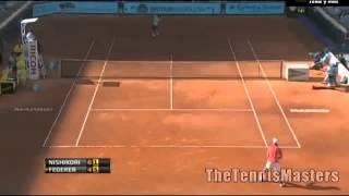 Kei Nishikori Vs Roger Federer Madrid 2013 R3 HIGHLIGHTS [HD]