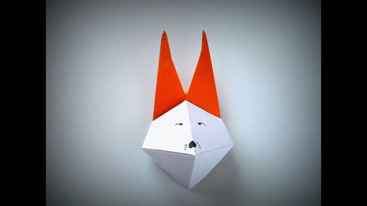 Papercraft Origami - How to make a FOX MASK