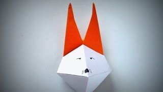 Origami - How to make a FOX MASK