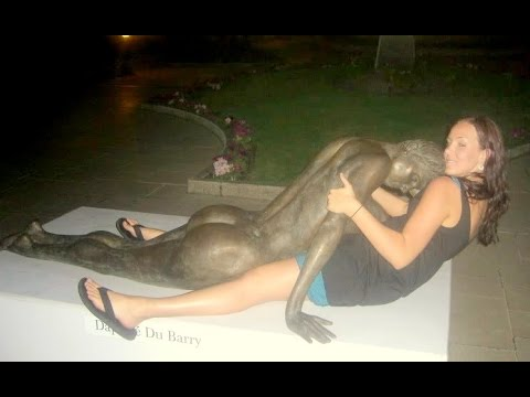 Funny Poses With Statue