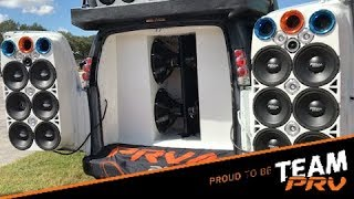 Candy's Ultra HD Truck was playing in a Tampa, FL Car Show with a full PRV Audio system.