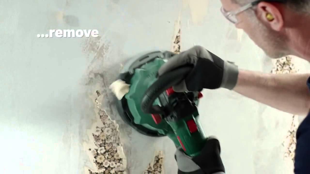 Bosch Pwr 180 Ce Set Slefuitor Pentru Pereti Si Alte Suprafete Mari 1010 W Youtube