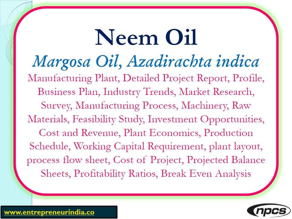 Neem OilMargosa Oil Azadirachta IndicaManufacturing Plant