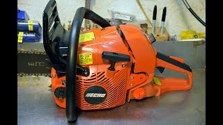 echo cs 590 timber wolf chainsaw first run tuning and review part 1