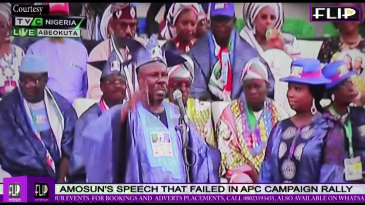 AMOSUN'S SPEECH THAT FAILED APC  RALLY