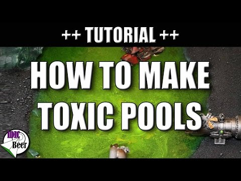 How to Make Toxic Pools/Acid Ponds with Cheap Water Effects for Tabletop Wargaming