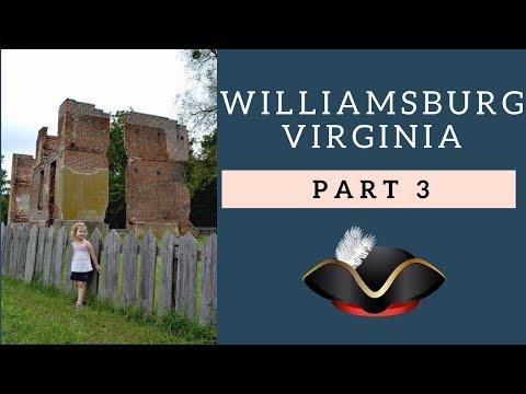 Williamsburg RV Vacation Pt3 - Jamestown/Shields Tavern