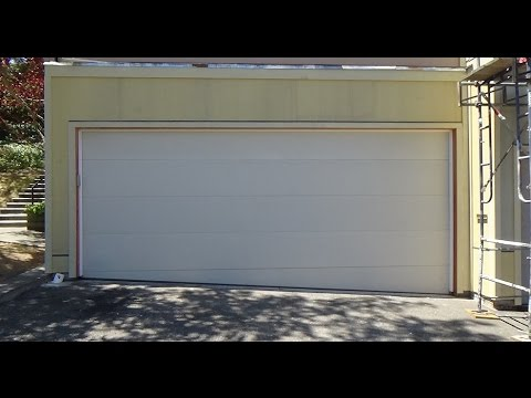 Garage Door On A Hill Requires A Trailer Section Youtube