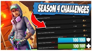 FORTNITE SEASON 4 WEEK 2 CHALLENGES LEAKED! (Fortnite: Battle Royale) | TBNRKENWORTH