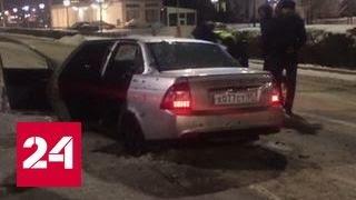 Стрельба в Грозном: бандиты отобрали у полицейского машину