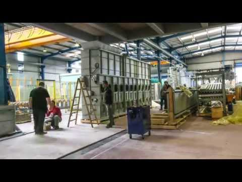 Glaston RC350 flat glass tempering line installation