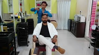 Asmr relaxing head massage by Barber Rajeev.