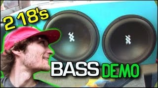 Loud BASS VAN Setup w/ 2 RE XX 18s - Ray's 5kw Sound System Playing GARGOYLES