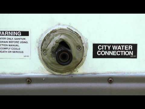 City water hookup on rv