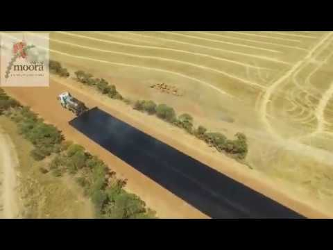 "Thumbnail: Road Bituminised - Incredible Construction Work - Moora Shire Road Works ""how to build a road"""