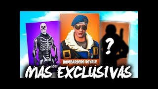 LAS 10 SKINS mas CARAS y EXCLUSIVAS en FORTNITE BATTLE ROYALE!