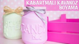 Kabartmalı Kavanoz Boyama | KENDİN YAP | DIY | Colorful Jars