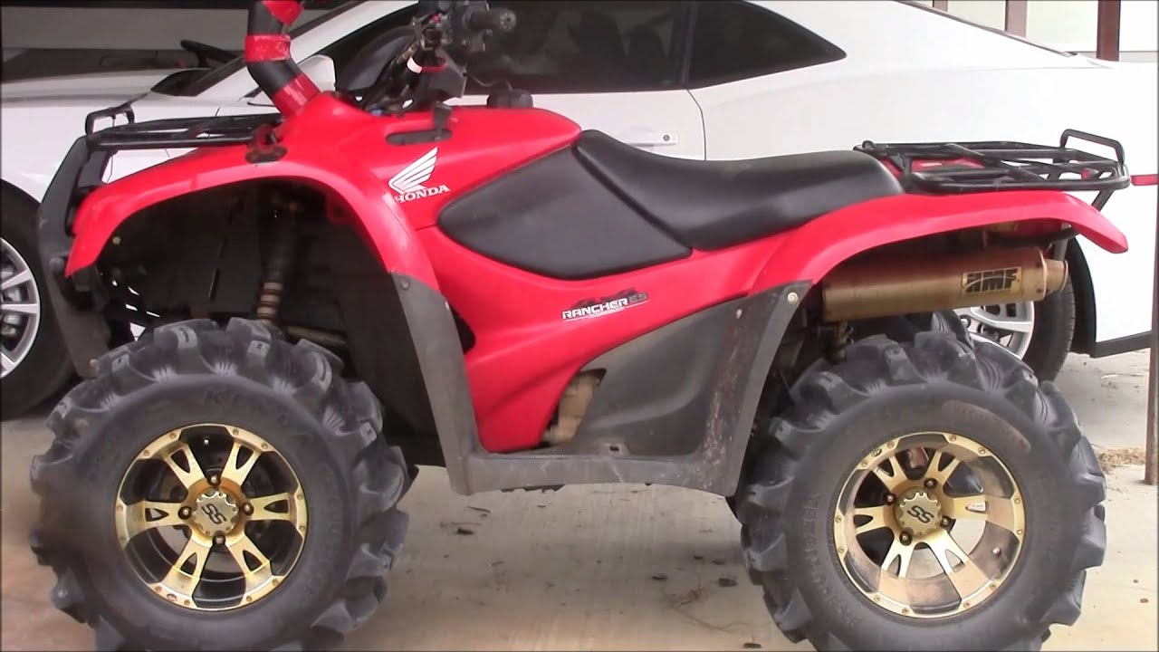 22 Inch Tires >> Highlifter 2 inch lift kit for Honda Rancher 420 Review ...