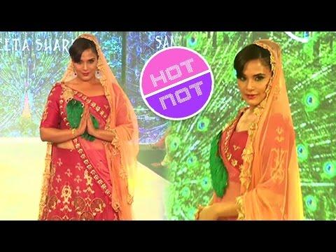 Richa Chadda Royal Look In A Lehenga Choli at India Beach Fashion Week 2017
