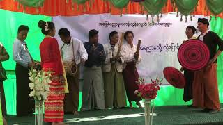 Olivier Cottone and his band and dancers celebrate a new school in Myanmar