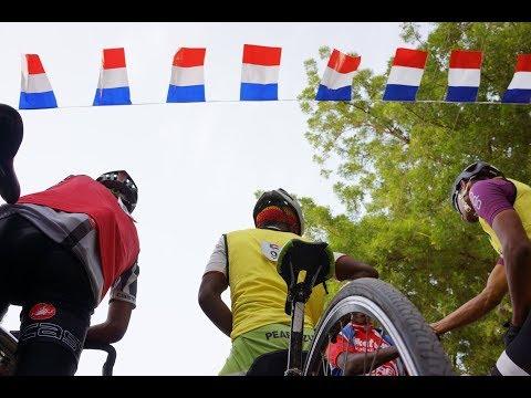 Sudanese Amateure Cyclist and French Empassy Le Tour De France Event