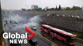 UN says dozens reported killed in Iran gasoline protests