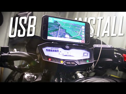 Yamaha MT07 | Phone Mount & USB Charger Install | (2020)