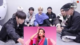 BTS reaction to BLACKPINK 뚜두뚜두 DDU DU DDU DU M V