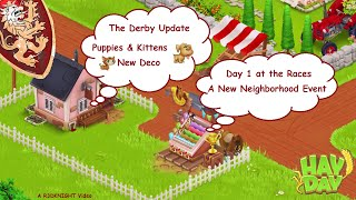 Hay Day - The Derby Update, Puppies & Kittens, New Upgrades and Gold Ornaments