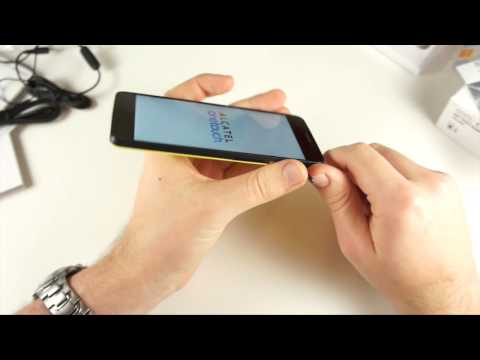 Alcatel One Touch Idol X Unboxing english