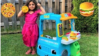 Kids Pretend Play with Food Truck Toy fun video