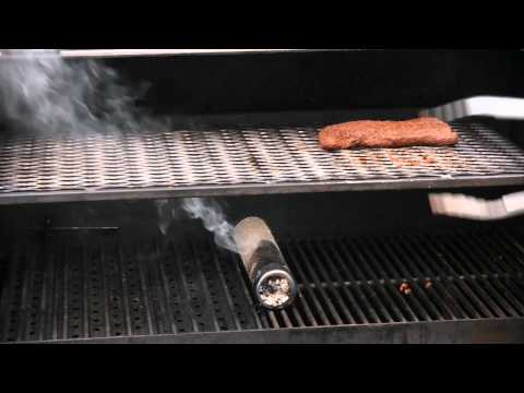 SmokingPit.com - A-maze-N-Tube-Smoker Review - used with a Yoder YS640 for flat iron steaks.