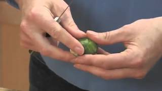 How to Trim Brussels Sprouts.flv