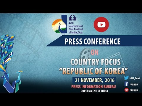 """IFFI 2016 : Press Conference on Country Focus """"Republic of Korea"""""""