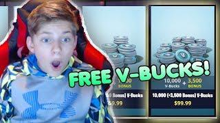 HOW TO GET FREE V-BUCKS IN FORTNITE!   & V-Bucks Giveaway