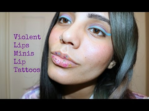 Violent Lips Minis: Temporary Lip Tattoos. Geek Chic!