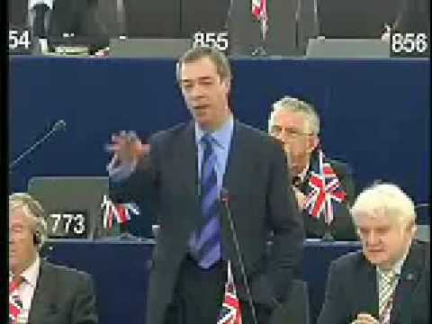 UKIP Nigel Farage Defends Czech President Klaus December 08