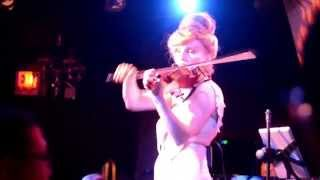 """NYC electric violinist Roswitha """"ONE OF US"""", in memory of Trayvon Martin, pro-gun-control"""