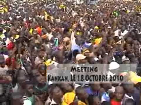 Alpha Condé a Kankan, Kouroussa, Yomou