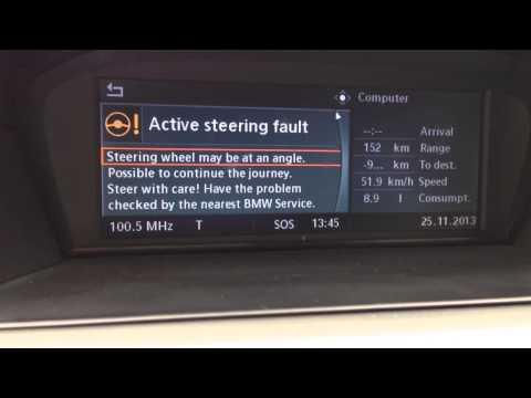 Bmw e60 steering problem