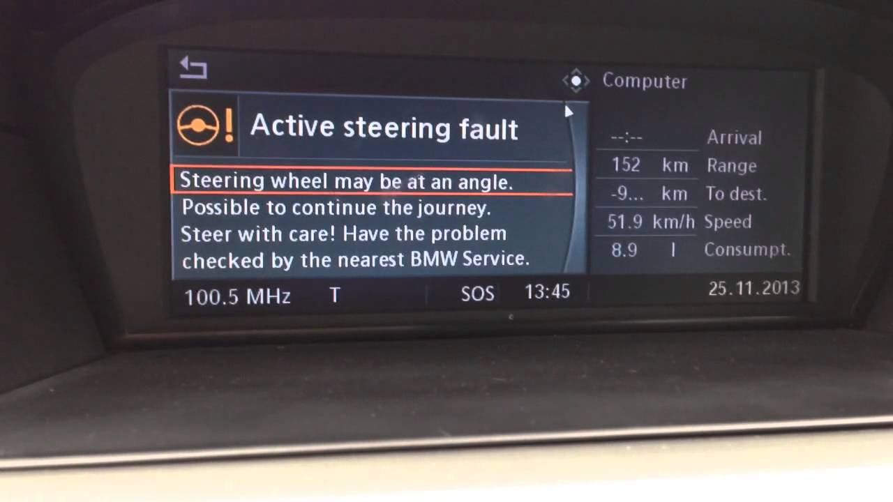 bmw e60 steering problem