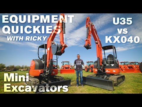 Kubota Mini Excavators Comparison: KX040 Vs U35