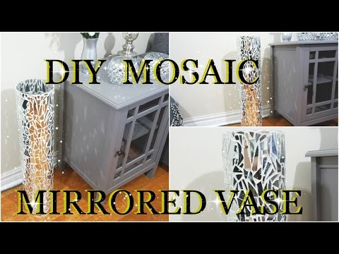 DIY MOSAIC MIRRORED GLASS VASE  HOME DECOR  PETALISBLESS🌹