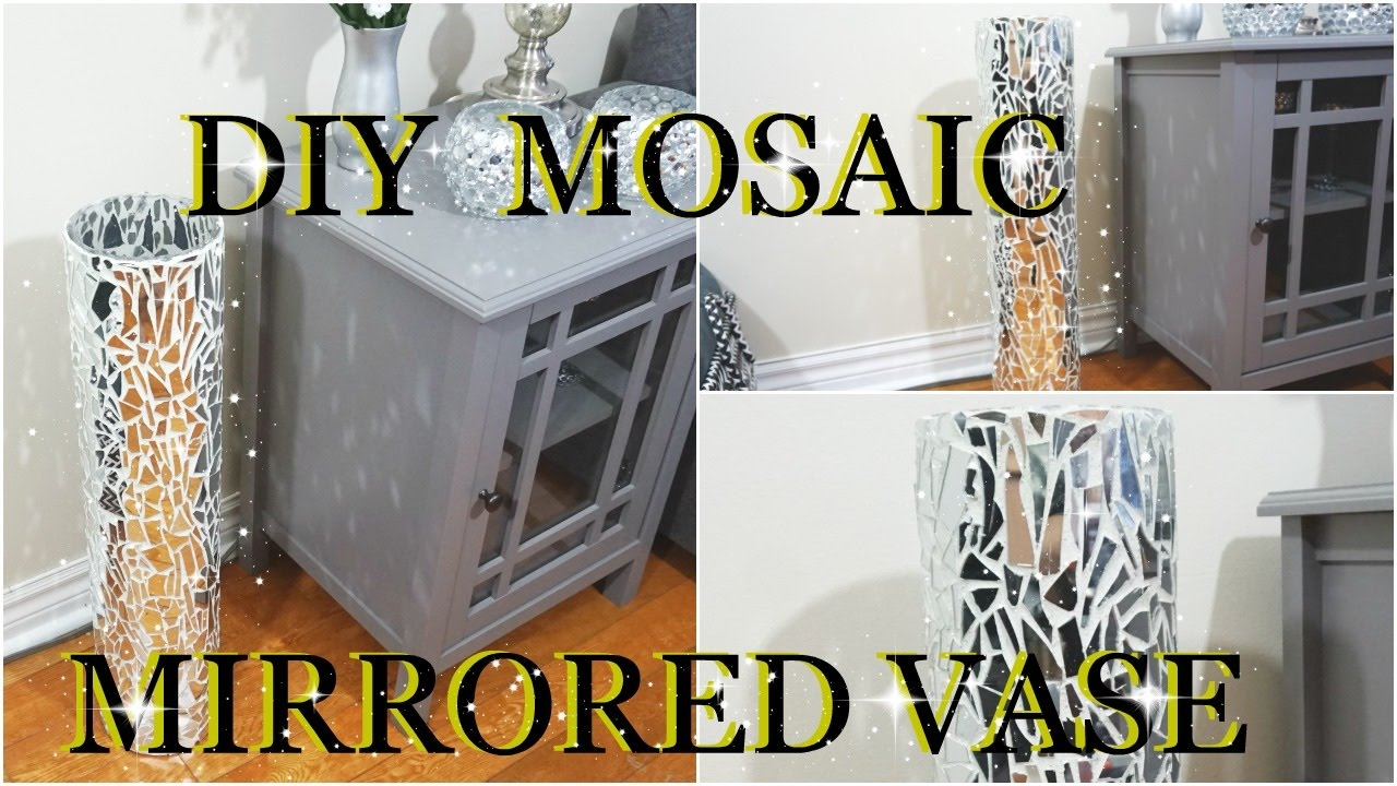 Diy mosaic mirrored glass vase home decor petalisbless youtube diy mosaic mirrored glass vase home decor petalisbless solutioingenieria Image collections