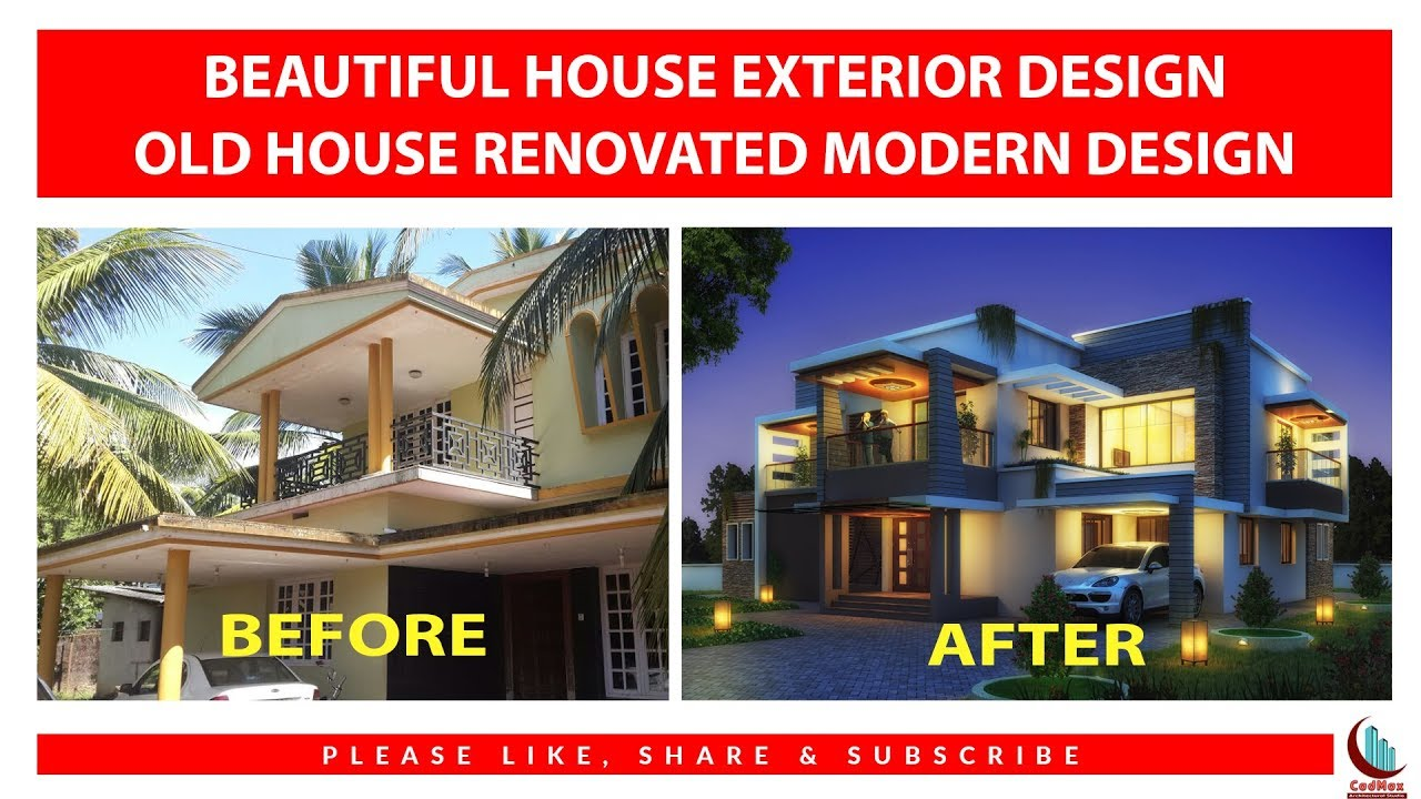 Beautiful House Exterior Design Old Renovated To A Modern Youtube