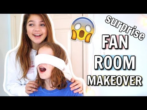 EXTREME ROOM TRANSFORMATION | Decorating a Fan's Room | ANNIE ROSE