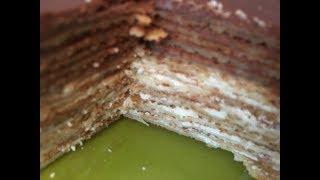 Праздничный торт из блинчиков на 23 февраля и 8 марта (Блинный торт)